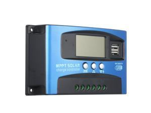 60A MPPT Solar Charge Controller Dual USB LCD Display Auto Solar Cell Panel Charger Regulator