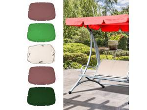 Swing Canopy Cover Bench Top Replacement Sun Shade Cover Waterproof Swing Canopy Cover Decor for Outdoor Garden Patio Yard Park Porch Seat Furniture