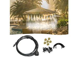 20FT Misting Cooling System Outdoor Misting Line Cooling Watering Sprayer Kit DIY Saving Water Misting Equipment Set for Garden Greenhouse Flower Patio Lawn