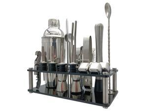 23pcs Cocktail Set Boston Shaker Mixer Stainless Steel Drink Making Tool Kit for Home Bar Use
