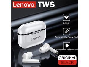 Lenovo LP1 TWS Earbuds Bluetooth 5.0 True Wireless Headphones Touch Control Sport Headset IPX4 Sweatproof In-ear Earphones with Mic 300mAh Charging Case