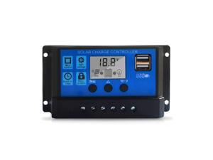 50A Solar Charge Controller, Upgraded Solar Panel USB Port Solar Panel Battery Intelligent Regulator, Multi-Function Adjustable LCD Display Street Light Controller