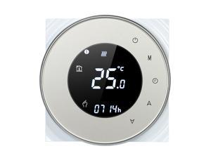 16A Programmable Electric Heating Thermostat Temperature Controller Touchscreen LCD with Backlight Voice Control Function
