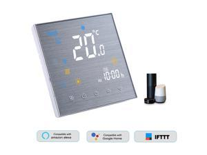 BTH-3000L-GALW WiFi Smart Thermostat for Water Heating Digital Temperature Controller Large LCD Display Touch Button Voice Control Compatible with Amazon Echo/Google Home/Tmall Genie/IFTTT 5A AC