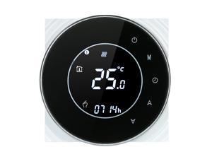 Programmable Gas Boiler Heating Thermostat Dry Contact Temperature Controller Touchscreen LCD with Backlight Voice Control Compatible with Amazon Echo/Google Home/IFTTT