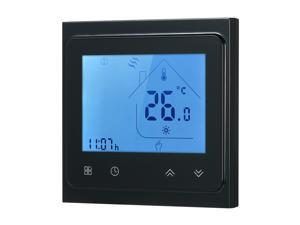 5A Water Heating Thermostat with Touchscreen LCD Display Weekly Programmable Energy Saving Temperature Controller