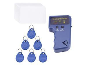 Handheld 125KHz RFID ID Card Copier Writer Duplicator Programmer Reader Code Writable EM4305 ID Keyfobs Tags Card Key Cards
