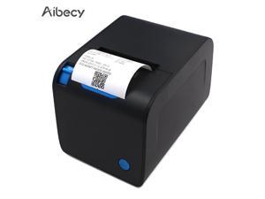 Aibecy 80mm Thermal Receipt Printer POS Printer Auto Cutting High Speed Printing at 250mm/s Compatible with Windows for Supermarket Store Restaurant