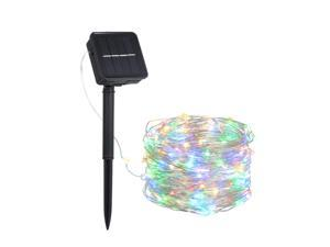 12W 20M/65.6Ft 200 LEDs Solar Powered Energy Copper Wire Fairy String Light Lawn Lamp with 8 Different Lighting Modes Effects Flexible Twistable Bendable IP65 Water Resistance Pink/ Blue/ Yellow/