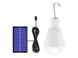 Solar Light Bulb 130LM Portable Solar Powered LEDs Bulb Light for Hiking Fishing Camping Tent Lighting