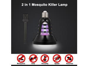 2 in 1 Mosquito Killer Lamp UV Led Electric Insect & Fly Killer E27 Base Bug Zapper Light for Indoor and Outdoor