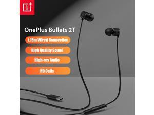 OnePlus Bullets 2T Earphones Type-C In-Ear Headset With Remote Mic 1.15M Wired Compatible for Oneplus 7 8 Pro 6 7 T Mobile Phone