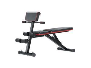 Multi-Functional Bench for Full All-in-One Body Workout – Hyper Back Extension, Roman Chair, Adjustable Ab Sit up Bench, Decline Bench, Flat Bench