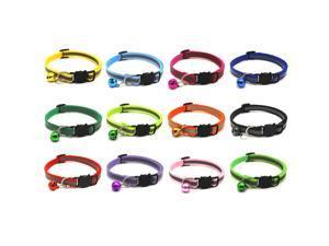 Pet Supplies Reflective Patch Collar Release Buckle Bell Tightness Adjustable Pet Collar