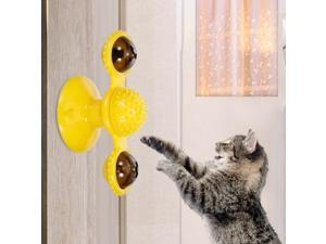 Windmill Cat Toy Turntable Toy Turntable Teasing Cat Toy Interactive Chew Toys Led Ball Catnip Ball Scratching Tickle Cats Hair Brush