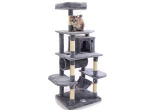 Cat Tree Condo Furniture Kitten Activity Tower Pet Kitty Play House with Scratching Posts Perch Hammock Tunnel