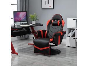 Home Comfortable Office Video Game Sofa Swivel Chair with a Strong Ergonomic Design & Quality Material - Black and Red