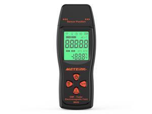 Meterk EMF Meter Electromagnetic Field Radiation Detector Handheld Mini Digital LCD EMF Detector Dosimeter Tester Counter