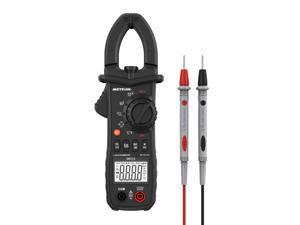 Digital Clamp Meter Meterk 6000 Counts TRUE RMS NCV AC/DC Voltage Auto Range AC Current Clamp Multimeter Capacitance Resistance Frequency Temperature Measure (Black Digital Clamp Meter)
