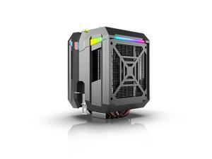 CPU Cooler ARGB,Air Cooler,42.97CFM,4 Copper Heatpipes ARGB Sync PC for AMD FM2/AMD4/Intel LGA2066/1151/2011-3, 127mm ARGB PWM Fan Blade,Computer Tower CPU Radiator PWM Temperature Control Silent Fan