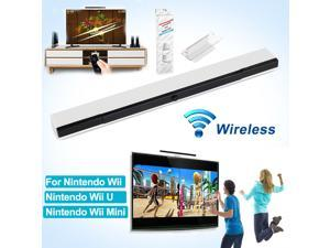 Wireless Remote Sensor Bar IR Infrared Ray Inductor w/ Stand For Nintendo Wii/ U