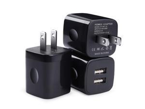 USB Wall Charger, Charging Block, 3Pack Dual Port 2.1A Wall Charger Brick Base Charging Cube Plug Phone Charger Box Compatible iPhone XS Max/XR/X/8/7/6/6s, iPad, Samsung Galaxy S9 S8 S7 S6, LG