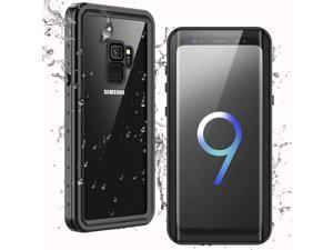 Waterproof Samsung Galaxy S9 Case,Clear Sound Quality Built-in Screen Protector IP68 Waterproof Support Wireless Charging Heavy Duty Shockproof Case for Samsung Galaxy S9 5.8inch (Black/Clear)