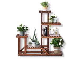 Plant Stands for Indoor Plants Wooden Plant Shelf for Multiple Plants for Outdoor Fir Wood Flower Stands for Living Room Balcony Bedroom Garden, Medium