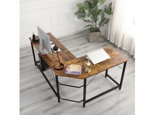 Golden Furniture L-Shaped Desk Computer Corner Desk, Home Desk, Home Office Desks with Moveable Shelf, Space-Saving, Easy to Assemble,wood grain