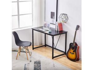 """Computer Desk 43.3"""" Home Oiffce Desk Small Writing Study Table Modern Simple Style with Metal Frame,Black"""