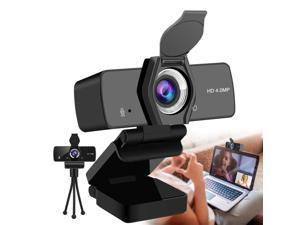 2K Webcam with Microphone,1440P HD Webcam with Privacy Cover and Tripod,USB2.0/3.0 Plug and Play Web Cameras for Computers for Learning and Teaching Online, Conferencing, Video Calling(1080P Upgraded)