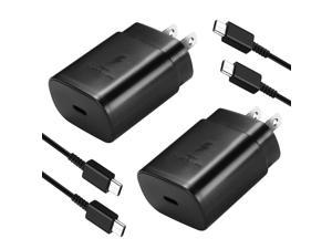 PD 25W Super Fast Charger, USB C Wall Charger for Samsung Galaxy Note 20/20 Ultra/ Note10 / 10+ / S20 Ultra / S20 Plus / S20/ S10 5G, 2018 and 2019 iPad Pro 11/12.9 with 5ft Type C to Type C Cable