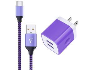 USB C Charger, 6ft USB Type C Charger Cable Fast Charging + USB Wall Charger USB Plug in Adapter for Samsung Galaxy A71 A51 M51 A50 A30s A21 A20s A20 A10e S20+ S20 S10e S10 S9 S8 Plus,Note 20 Ultra