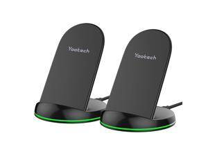 Yootech [2 Pack] Wireless Charger Qi-Certified 10W Max Wireless Charging Stand, Compatible with iPhone 12/12 Mini/12 Pro Max/SE 2020/11 Pro Max, Galaxy S20/Note 10/S10 Plus/S10E(No AC Adapter)