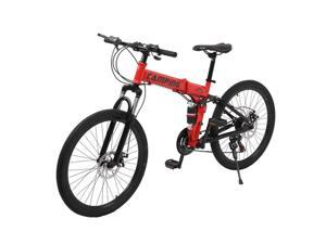 DHYED 26-inch 21-speed folding mountain bike red