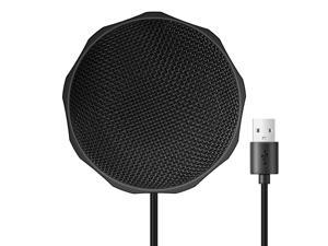 USB Microphone for Computer, Plug&Play PC Microphone for Conference, Chatting Streaming, Gaming Mic Computer Microphone Compatible with PC, Laptop and Notebook