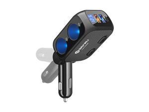 Cigarette Lighter Splitter, SONRU Fast USB C Car Charger Adapter 12V/24V 180W Cigarette Lighter Adapter with Type-C & USB QC 3.0 & 2 Sockets for iPhone, Laptop, Google Pixel, GPS Dash Cam