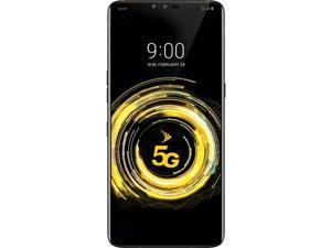 LG V50 ThinQ 128GB LMV450PM Sprint CDMA and GSM - Unlocked - 5G Smartphone - Aurora Black