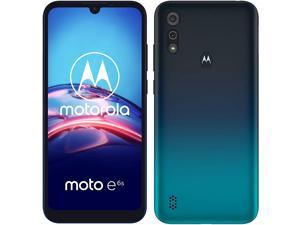 Motorola Moto E6S 4G LTE 6.1-inch dual camera 32 GB + 2 GB RAM - Factory Unlocked Smartphone - Peacock Blue