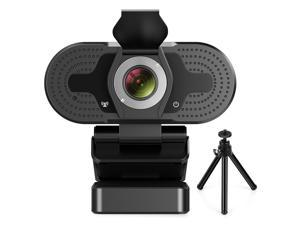 Portholic 1080P Webcam for PC, Full HD Computer Camera with Cover, USB Web Cam with Microphone, Cover, Expandable Tripod, Streaming Camera for Skype, Streaming, Teleconference etc.