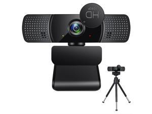 Portholic Webcam with Microphone, 1080P Full HD Computer Camera for PC with Cover, Expandable Tripod, USB Web Camera with Cover for Video Calls, Streaming, Skype, Zoom, Teleconference