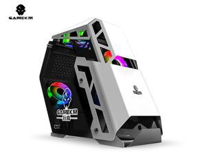 GAMEKM GREAT ARBITER ATX Mid-Tower Gaming Case Special-Shaped DIY Water-Cooled Tempered Glass Internet Cafe Desktop Computer Case Motherboard Supports ATX M-ATX MINI-lTX 7 Fan Positions 240
