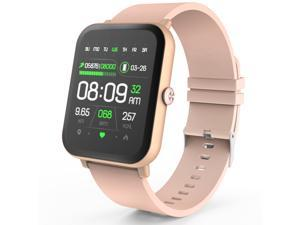 YEGKGO Smart Watch for Android Phones and iOS Phones, IP68 Waterproof Smartwatch with Heart Rate, Sleep Monitor, Info Reminder, Smart Watches for Men Women