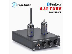T20 Bluetooth Tube Amplifier Stereo Receiver 2 Channel Class D Digital Mini Hi-Fi Power Amp Preamp Compact Integrated Headphone Amplifier for Home Passive Speakers with 6J4 Vacuum tubes +Power Supply