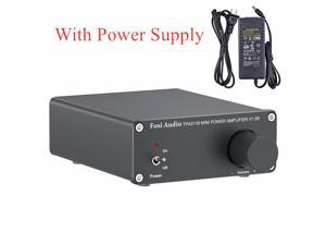 2 Channel Stereo Audio Class D Amplifier Mini Hi-Fi Professional Digital Amp for Home Speakers 50W x 2 - V1.0B