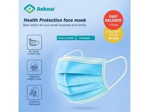 "[40 Pcs] Anknar Face Masks Reviews on YouTube, 3-layer, Size: 6.9"" x 3.7""', 10 pcs per pack, SGS certified"
