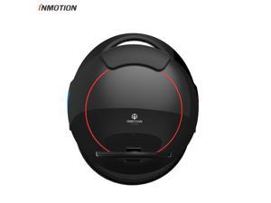 INMOTION Updated V5F black electric unicycle single-wheel self-balancing scooter with decorative lights, 14-inch inflatable wheels