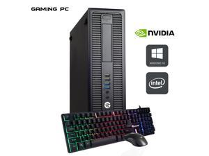 HP EliteDesk 800 G1 SFF Computer PC i5 4570 3.2Ghz 16GB DDR3 RAM 1TB SSD NVIDIA GeForce GT 1030 2GB Win 10 Pro WIFI with Gaming PC Keyboard & Mouse HAJAAN HC510 HDMI