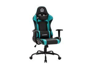 LSSPAID Gaming Chair Racing Computer Chair Executive and Ergonomic Reclining Swivel Chair with Headrest and Lumbar Cushion (Black/Mint)