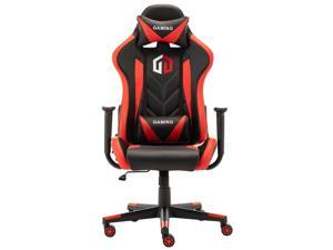 LSSPAID Gaming Chair Computer Chair Adjustable Rotating Work Chair with Pillow and Lumbar Support(Black/Red)